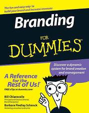 Branding For Dummies by Barbara Findlay Schenck, Bill Chiaravalle (Paperback, 2…