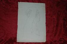 Disegno Neoclassico 1842 Figura Androgina