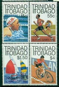 TRINIDAD & TOBAGO 412-15 SG656-59 MNH 1984 Olympic Games LA set of 4 Cat$7