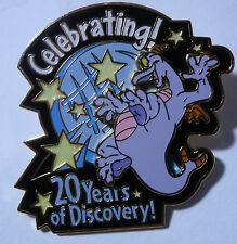 Disney Pin Figment Celebrating 20 Years Discovery 2002 Glow in dark stars 3D LE