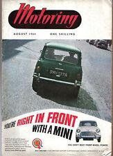 Motoring 8/64  Nuffield Mag MG Midget Morris Oxford BMC Marine engine Bullnose +