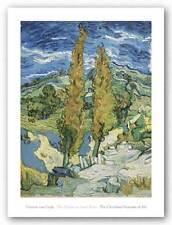 MUSEUM ART PRINT The Poplars at Saint Remy 1889 Vincent Van Gogh 27x20