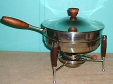 Chafing Dish Cook serve wood high polish silver finishFINISH