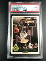 SHAQUILLE O'NEAL SHAQ 1992 CLASSIC #1 DRAFT PICKS GOLD PARALLEL ROOKIE RC PSA 9