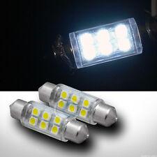 2pc White 36mm Festoon 6x SMD LED Light Bulb Trunk/License Plate Lamp 6426 6461