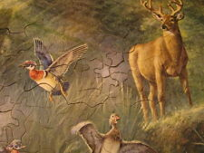 Vtg Guild Water Hole Deer Wood Duck Jigsaw Puzzle  Walter Haskell Hinton 300pc