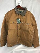 NEW WOOLRICH DRIFTER JACKET CANVAS INSULATED SHERPA MENS XXL CHICORY FAST SHIP