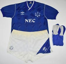 1986-1989 EVERTON UMBRO FOOTBALL KIT (SIZE S)