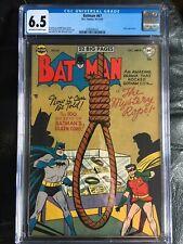 BATMAN #67 CGC FN+ 6.5; OW-W; Kane, Sprang art; noose cvr, Joker app.!
