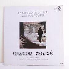 33T B. MEULIEN G. PIERRON Vinyl LP GASTON COUTE CHANSON D'UN GAS QU'A MAL TOURNE