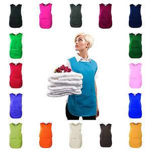 Tabard Tabbard Apron With Pocket Work Wear Overall Catering Cleaning 18 Colours