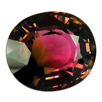 Flawless Tourmaline 9.25ct aaa deep bi color 100% Natural earth mined Mozambique