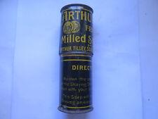 ARTHUR TILLEY FRAGRANT MILLED SHAVING STICK TIN c1900s SOUTH YARRA MELBOURNE VIC