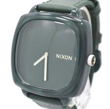 Nixon The shutter/hot stepper Women's Green Leather Plastic Case Watch A167-1641