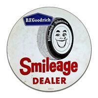 BF Goodrich Smileage Dealer Tire Silvertown Tire Round MDF Wood Sign