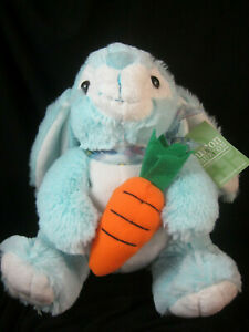"""Burton and Burton Plush Blue Bunny Rabbit with Carrot 8"""" Mint with Tags"""