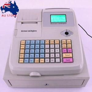 Electronic Cash Register POS w/Drawer 36 Departments 48 Keys AU plug Heavy Duty