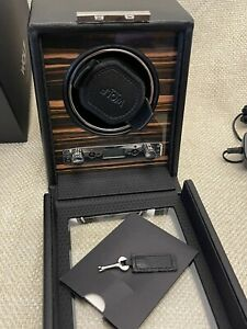 WOLF 457056 2.7 Roadster Automatic Single Watch Winder with Cover-Ebony Macassar