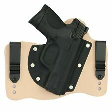 FoxX Leather & Kydex IWB Hybrid Holster S&W M&P Compact 3.5 9/40/45 Natural RH