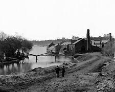 New 8x10 Civil War Photo: Neilson's Island and Tredegar Iron Works in Richmond