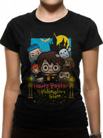 Harry Potter Philosophers Stone Cute Poster Official Black Womens T-shirt