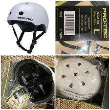 protec street lite adult safety helmet. Gloss White. Size Large