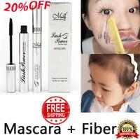 4D Silk Fiber Eyelash Mascara Extension Makeup Black Waterproof Kit Eye Lashes~·