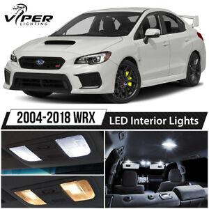 White LED Interior Lights Package Kit for 2004-2018 Subaru Impreza WRX STI