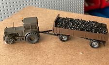 M1:87 HANOMAG R55 Preiser , H0 mit Kohlen-Anhänger