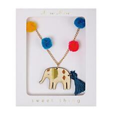 Meri Meri Cute Elephant Pom Pom Necklace KIDS party gift for girl
