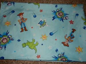 Disney TOY STORY Woody Buzz Rex Alien Microfiber Toddler Bed Flat Sheet {Fabric}