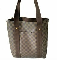 Louis Vuitton LV Damier Ebene Canvas Leather Cabas Beaubourg Tote bag