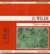 Teatro e poesia  vol. II. . O. Wilde. 1990. .