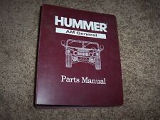 1995 AM General Hummer H1 Parts Catalog Manual 5.7L 6.5L V8 Gas & Diesel Wagon