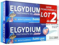 Elgydium Toothpaste Gel Junior Decay Protection 7/12 Years Old Bubble Aroma 2 x