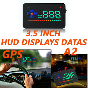 GPS HUD Digital Car Speedometer Projector A2 Head Up Display Auto Speed Warning