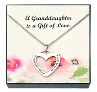 Granddaughter Pendant Necklace, Jewelry for Granddaughter