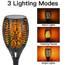96 LED Solar Lampe Flamme Fackel Flackernde Garten Außen Leuchte Wasserdicht