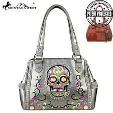 Pewter and Multi Colored Concealed Handgun Montana West Handbag