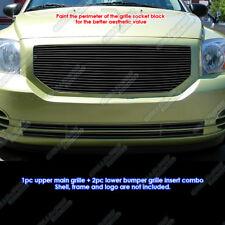 Fits 2006-2012 Dodge Caliber Black Billet Grille Grill Insert Combo