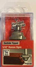 "Vermont American 23149 5/32"" Roman Ogee-1/4"" Shank-Carbide Router Bit"