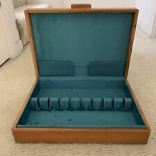 New listing Wooden Silverware Flatware Storage Box Chest