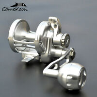CAMEKOON Conventional Saltwater Lever Drag Fishing Reel Full Metal Trolling Reel