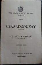 1971 Concert Programme GERARD SOUZAY,  Minterne House, Dorset, Ephemera