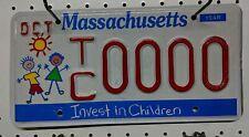 Massachusetts Invest in Children Sample License Plate