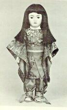 "20""Antique Simon-Halbig Asian Doll Kimono/Obi Pants/Zori Slippers Frog Pattern"