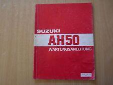 Reparaturanleitung Werkstatthandbuch Suzuki AH 50 Modelljahr ab 1992