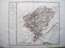 RIESIGE LANDKARTE FRANKREICH DEP. DU DOUBS 1790 KUPFERSTICH D'HOUDAN