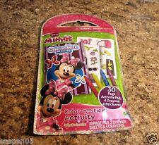Disney Minnie Mouse Color N Stick Art Activity Set NEW