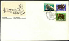 Canada 1989, 44c, 59c, 76c Wildlife Definitives FDC First Day Cover #C38611